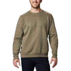 Columbia Logo Fleece Crew Sweater Heren, stone green puff logo